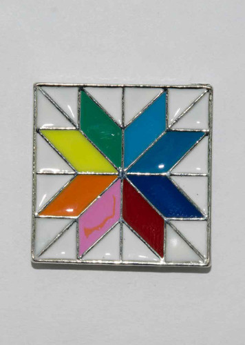 Mag Friends Large Classic – Color Wheel Quilt Square Magnet