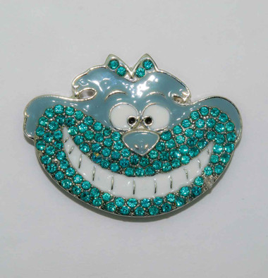Mag Friends Monster – Grey and Turquoise Cheshire Cat Magnet