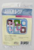 Stitch and Zip Needlepoint Kit – SZ195 – Colorful Loops Coin Purse-Credit Card Case