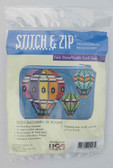 Stitch and Zip Needlepoint Kit – SZ213 – Balloons in Flight Coin Purse-Credit Card Case