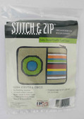 Stitch and Zip Needlepoint Kit – SZ204 – Stripes and Circle Coin Purse-Credit Card Case