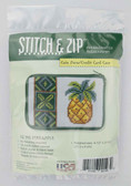 Stitch and Zip Needlepoint Kit – SZ193 – Pineapple Coin Purse-Credit Card Case