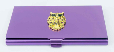 Bead and Needle Case - Jeweled Owl