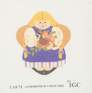 Hand-Painted Needlepoint Canvas - LAS 73 - IGC - A Partridge in a Pear Tree
