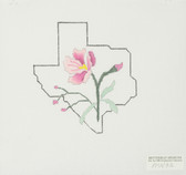 Hand-Painted Needlepoint Canvas - MN32 - Bettieray Designs - Texas and Flower