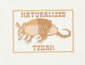 Hand-Painted Needlepoint Canvas - B-186 - Treglown Designs - Naturalized Texan