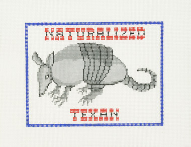 Hand-Painted Needlepoint Canvas - B-185-B - Treglown Designs - Naturalized Texan