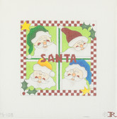 Hand-Painted Needlepoint Canvas - FS-108 – Santa Square