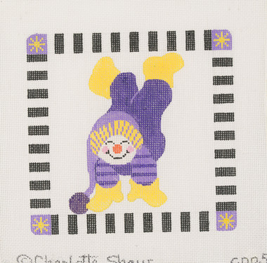 Hand-Painted Needlepoint Canvas - CPP5 - Charlotte Shaw - Snowman Handstand