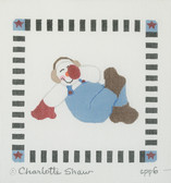 Hand-Painted Needlepoint Canvas - CPP6 - Charlotte Shaw - Seated Snowman