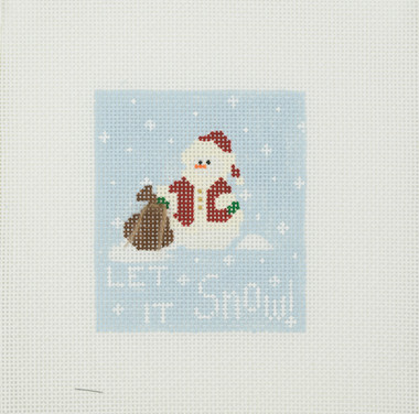 Hand-Painted Needlepoint Canvas – Charlotte Shaw - Let it Snow