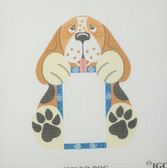 Hand-Painted Needlepoint Canvas - PFS7 - IGC - Hound Dog