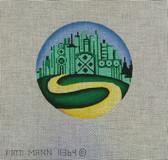 Ornament round. Emerald City