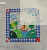 Tooth Fairy Sailboat Pillow with a cloud pocket