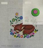Hand-Painted Needlepoint Canvas - Patti Mann  - 11681 – Tooth Fairy Pocket Pillow Fox