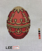 Hand-Painted Needlepoint Canvas – Lee – Faberge Egg – XM500