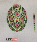 Hand-Painted Needlepoint Canvas – Lee – Faberge Egg – XM414