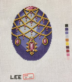 Hand-Painted Needlepoint Canvas – Lee – Faberge Egg – XM443