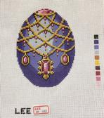 Hand-Painted Needlepoint Canvas – Lee – Faberge Egg – XM443