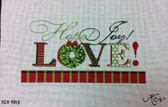 Kelly Clark Needlepoint Canvas - Hope, Joy & LOVE! - KCA 9013