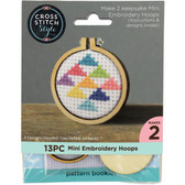 "Cross Stitch Style - 1.5"" Mini Embroidery Wood Hoops"