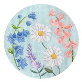 Kirk & Bradley - English Garden Round - Blue & Purple 18M