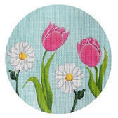Kirk & Bradley - English Garden Round - Pink & White 18M