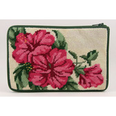 Stitch and Zip Needlepoint Kit – SZ520 - Hibiscus Cosmetic Purse