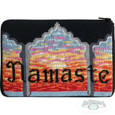Stitch and Zip Needlepoint Kit – SZ626 - Yogo - Namaste  Cosmetic Purse