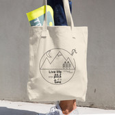 Live Life One Stitch at a Time Cotton Tote Bag