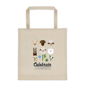 Celebrate Diversity in Fibers Tote bag