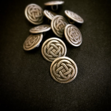 Dill Buttons Celtic Knot Button with Shank Antique Silver Size 18 MM