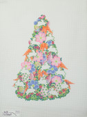 Hand-Painted Needlepoint Canvas - Ruth Schmuff - 2137 - Bunny Tree