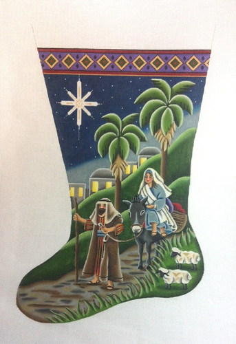 To Bethlehem Stocking  18M Rebecca Wood Designs