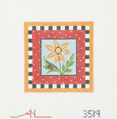 Hand-Painted Needlepoint Canvas - Amanda Lawford - 3519 - Daisy with ladybug
