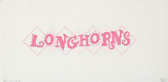 Hand-Painted Needlepoint Canvas - Denise DeRusha - 460 - Pink Longhorns