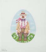 Hand-Painted Needlepoint Canvas - Melissa Shirley Designs - 832B - Father Goose Egg