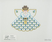 Hand-Painted Needlepoint Canvas - Painted Pony Designs - 994TH - Bluebonnet Angel