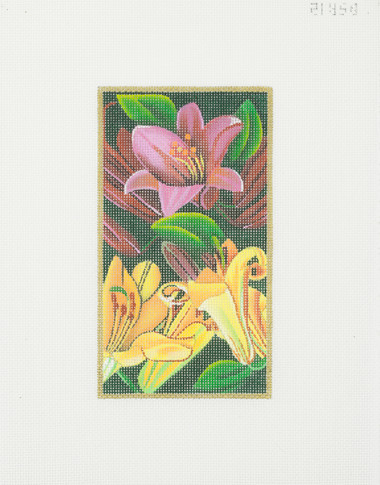Hand-Painted Needlepoint Canvas - Rishfeld Designs - DSR12 - Trumpet Lilies