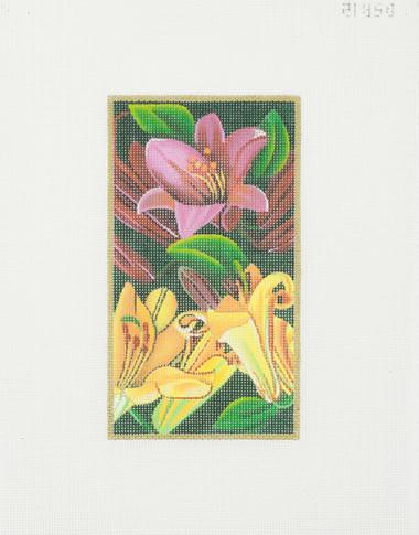 Hand-Painted Needlepoint Canvas - Rishfeld Designs - DSR12 - Trumpet Lilies