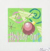 Hand-Painted Needlepoint Canvas - Ruth Schmuff - 1418 - Holiday-tini
