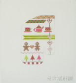 Hand-Painted Needlepoint Canvas - Sew Much Fun - Mini Gingerbread Oven Mitt