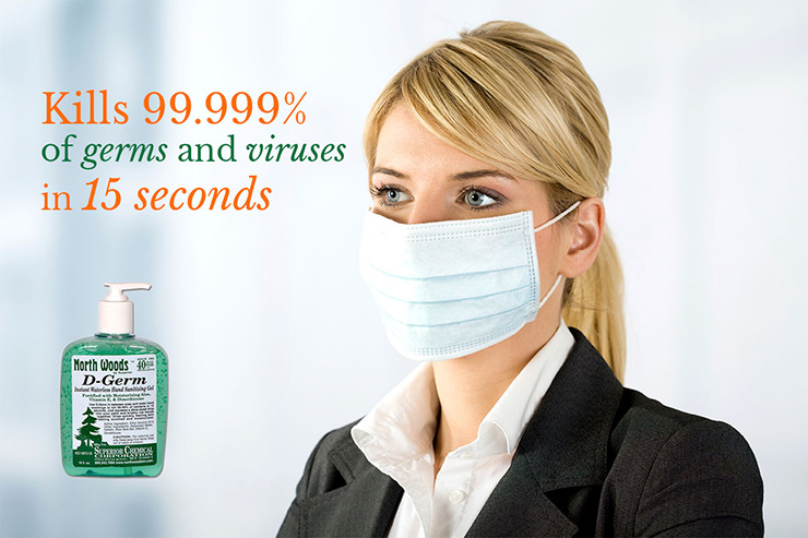 D-Germ Kills Viruses and Germs in 15 seconds
