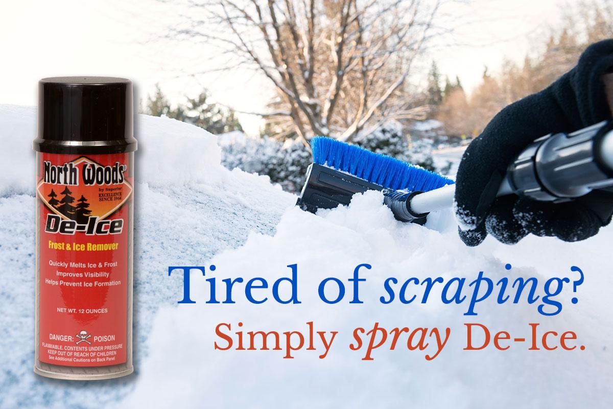 Spray De-Ice not scrape