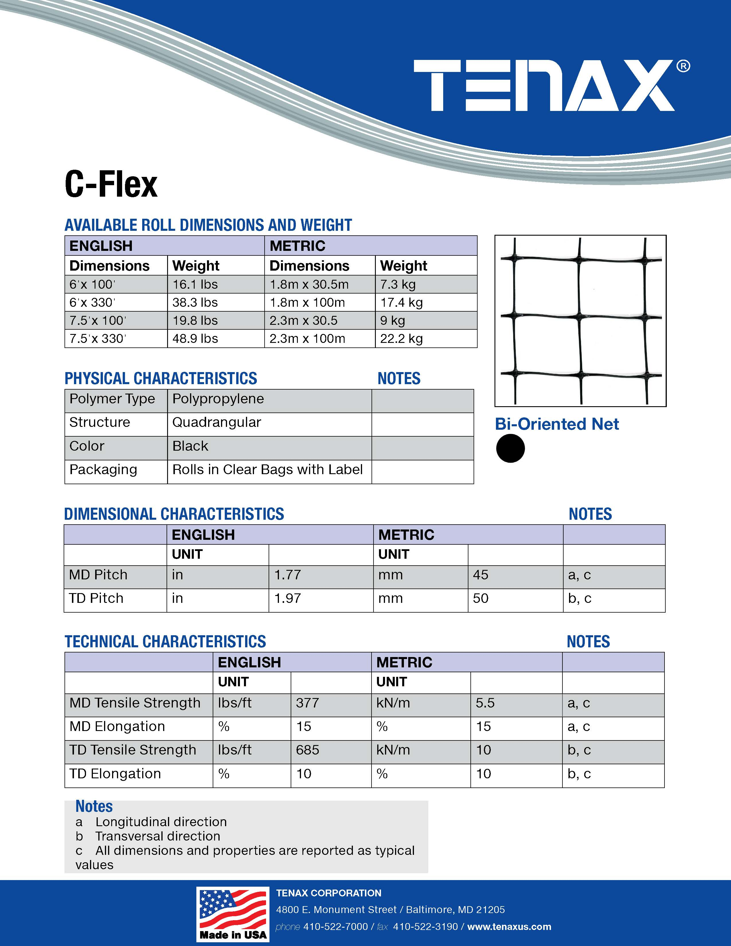 C Flex Deer Fence Spec Sheet