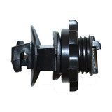 Screw On Round Post Insulators - Black, 25 or 250 pack