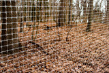 """6' x 90' Trident Multi-Purpose Fence 1"""" x 1"""" Mesh with Reinforced Bottom - Gray"""