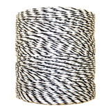 Black and White Electric Fence Poly Wire, 1312'