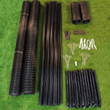 7.5' x 100' Heavy Duty Deer Fence Kit With Rodent Protection