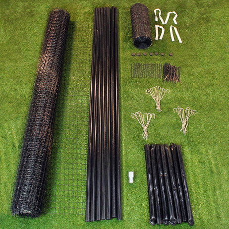 8' Removable Deer Fence Kit With Rodent Barrier